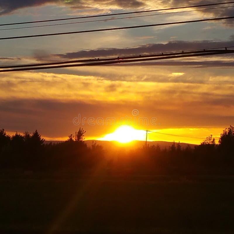 νέο ηλιοβασίλεμα Υόρκη στοκ φωτογραφία