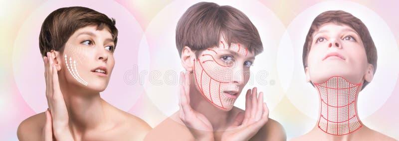 Νέο θηλυκό με το καθαρό φρέσκο δέρμα στοκ φωτογραφία