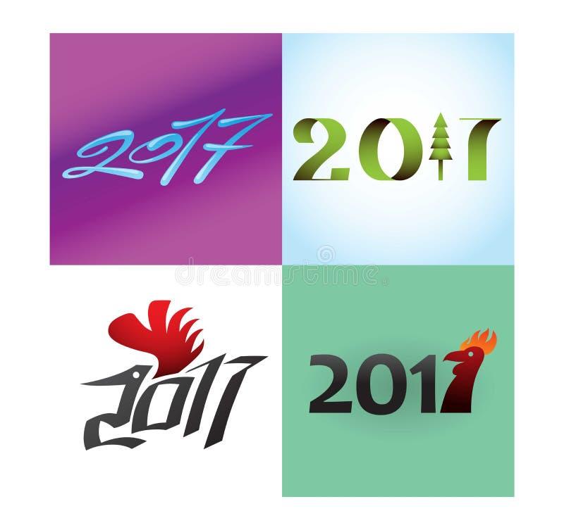 Νέο διάνυσμα κειμένων έτους απεικόνιση αποθεμάτων