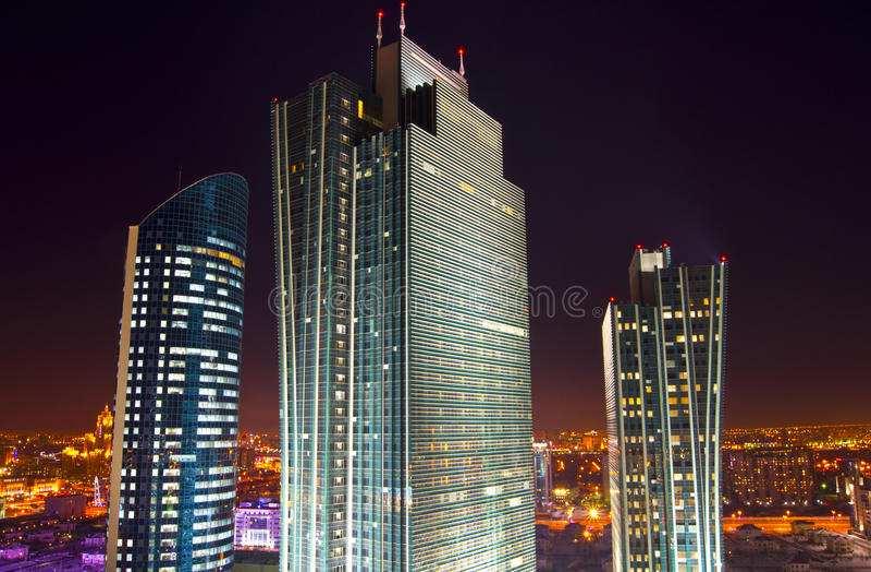Νέο κέντρο της πόλης σε Astana στοκ φωτογραφία με δικαίωμα ελεύθερης χρήσης