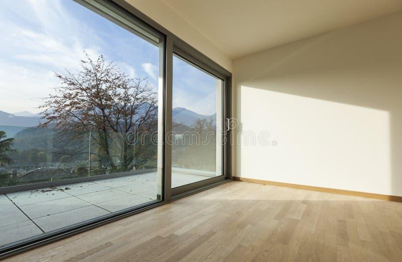 Νέο κενό διαμέρισμα, δωμάτιο στοκ εικόνες