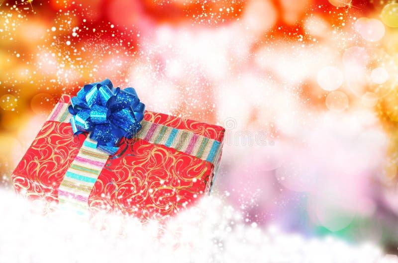 Νέο κιβώτιο έτους Holiday.Christmas.Gift στοκ φωτογραφία με δικαίωμα ελεύθερης χρήσης