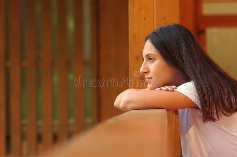 Νέο κορίτσι ερωτευμένα 3 Brunette στοκ φωτογραφία με δικαίωμα ελεύθερης χρήσης