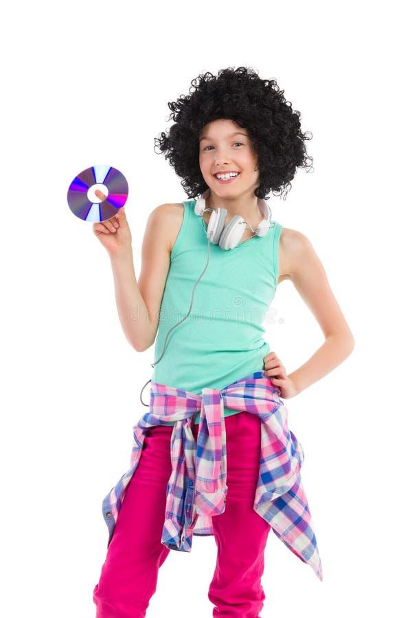 Νέο κορίτσι εφήβων του DJ στοκ φωτογραφία