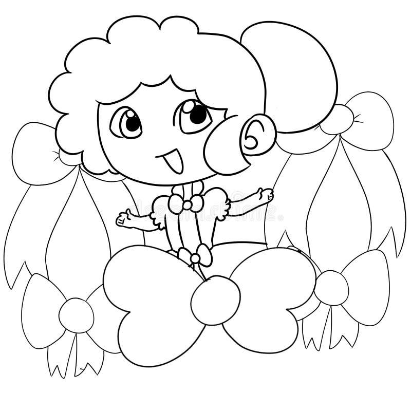 Νέο κορίτσι με μια κορδέλλα διανυσματική απεικόνιση