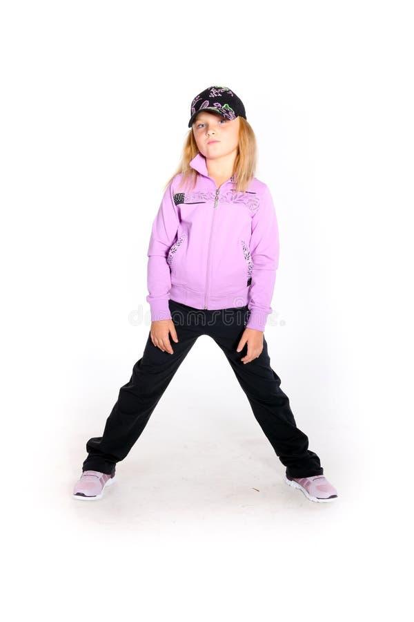Νέο κορίτσι στην αθλητική εξάρτηση στοκ εικόνα με δικαίωμα ελεύθερης χρήσης