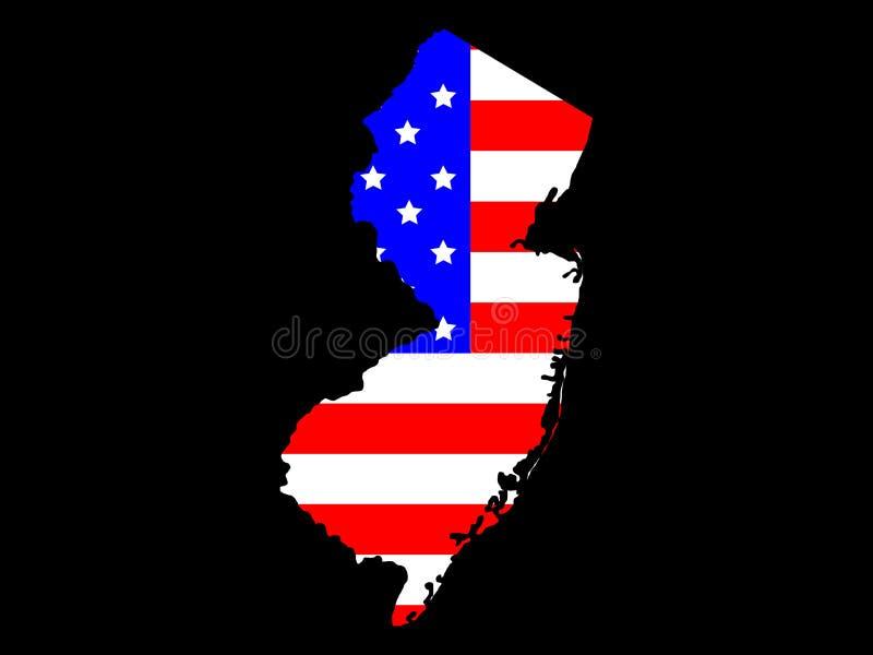 νέο κράτος του Τζέρσεϋ διανυσματική απεικόνιση