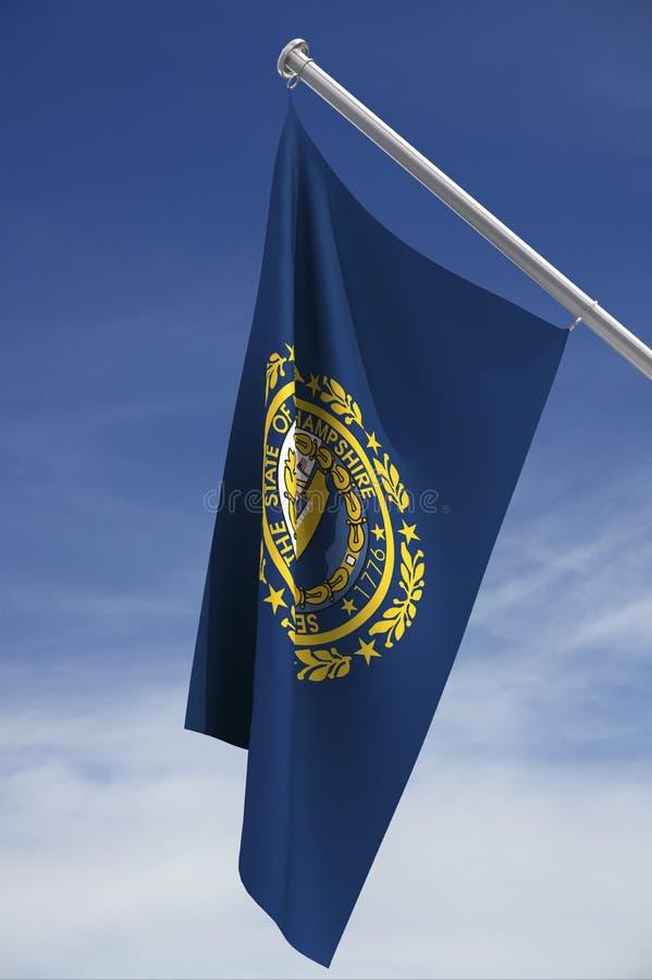 νέο κράτος του Χάμπσαϊρ σημαιών στοκ εικόνες