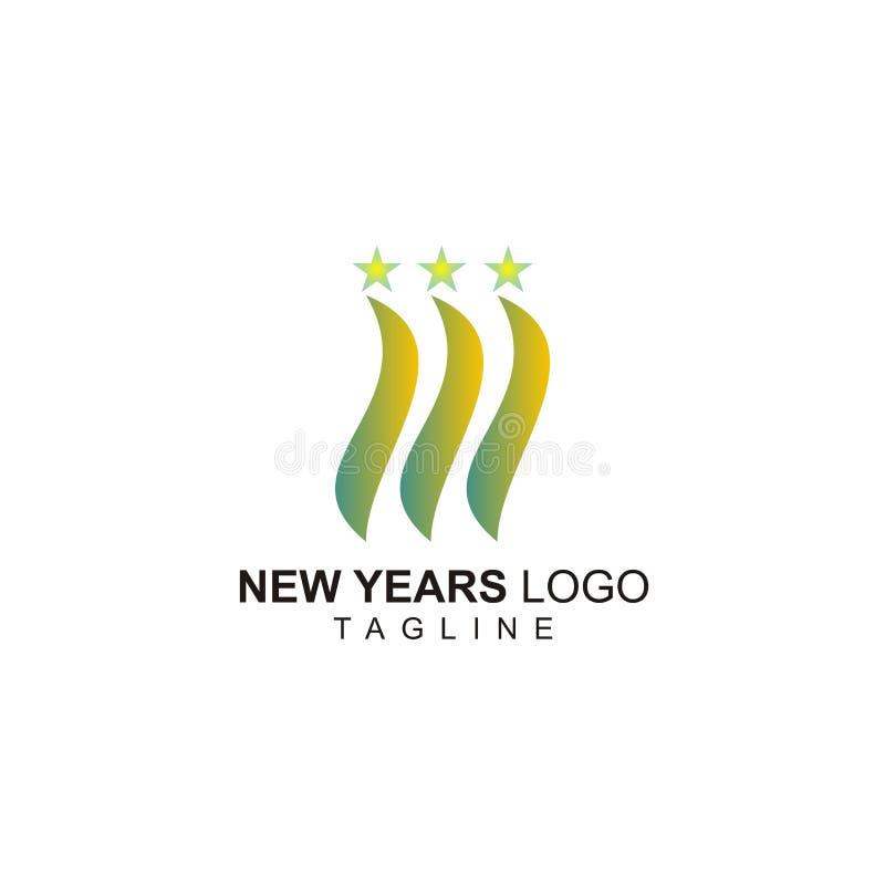 Νέο λογότυπο ετών με τη μικρή έννοια αστεριών ελεύθερη απεικόνιση δικαιώματος