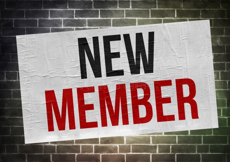 Νέο μέλος - έννοια αφισών διανυσματική απεικόνιση