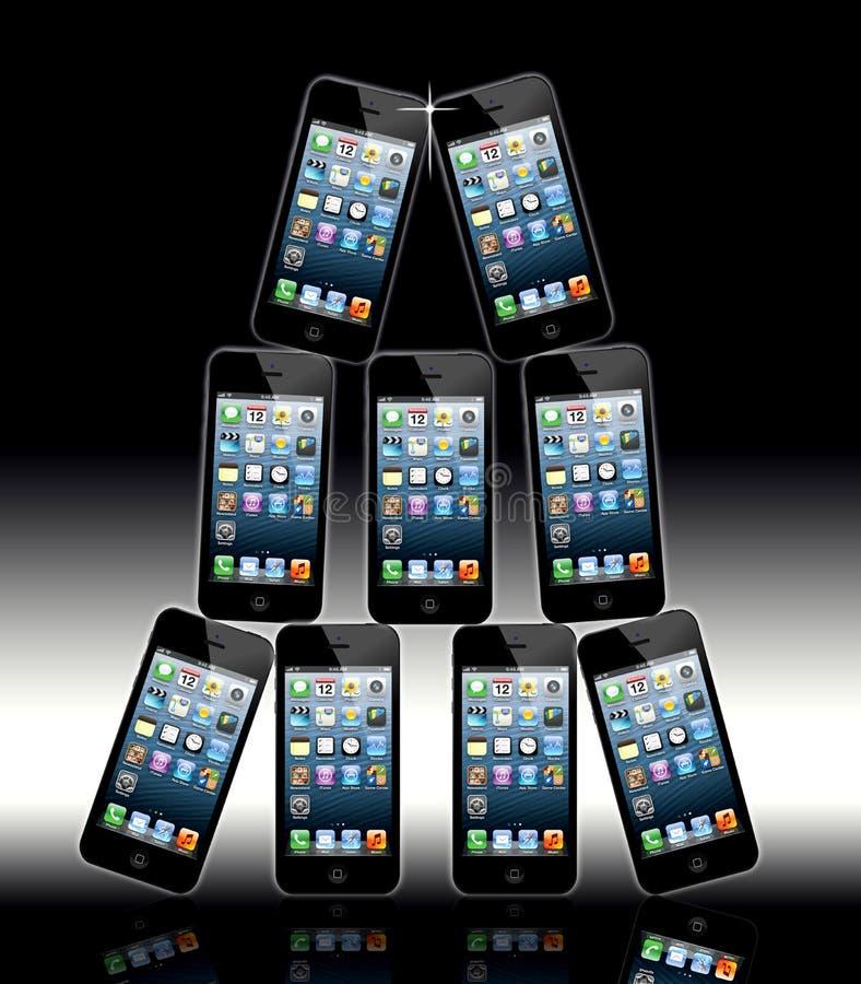 Νέο μήλο Iphone 5 ελεύθερη απεικόνιση δικαιώματος