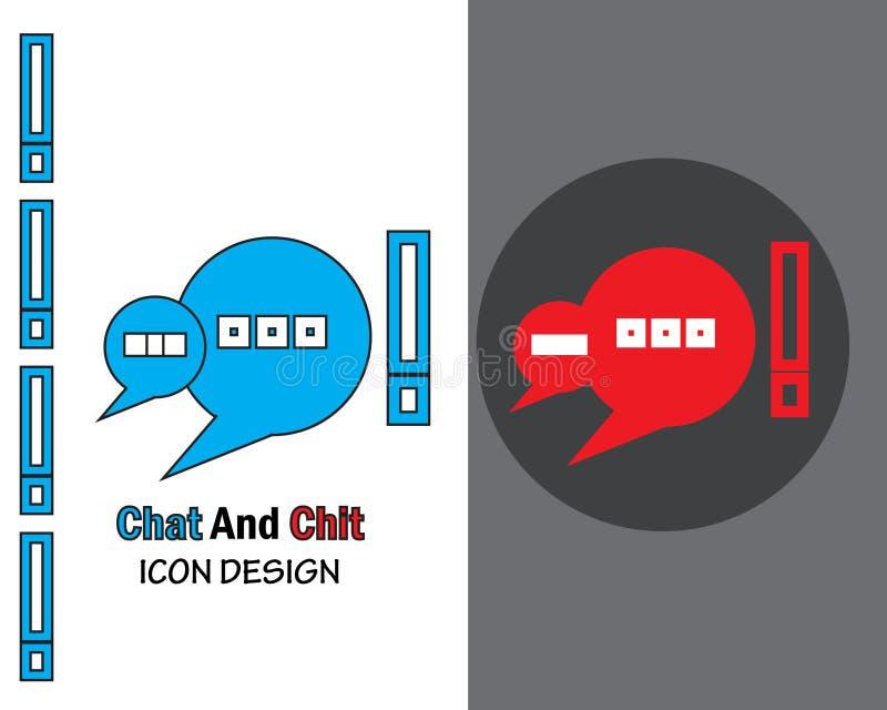 Νέο μήνυμα, ανακοίνωση, συνομιλία διάνυσμα συνομιλία εικονιδίων και chit απεικόνιση αποθεμάτων