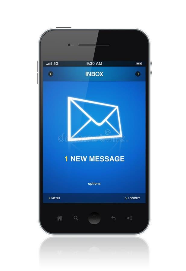 Νέο μήνυμα στο κινητό τηλέφωνο απεικόνιση αποθεμάτων