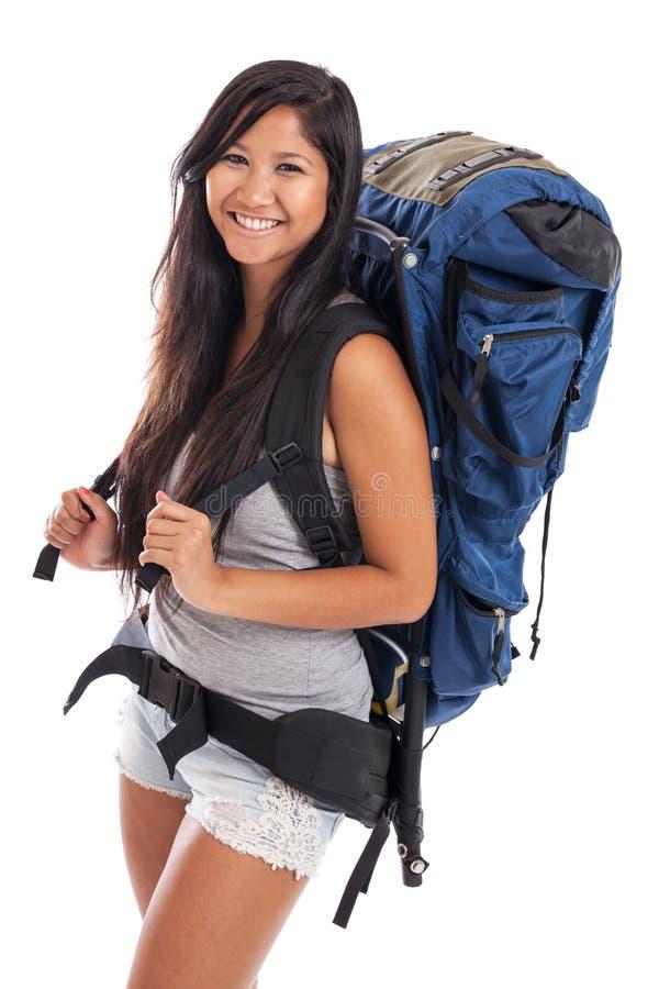 Νέο μαλαισιανό backpacker στοκ εικόνες