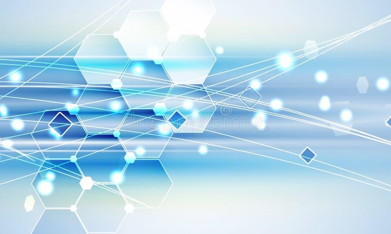 Νέο μελλοντικό αφηρημένο υπόβαθρο έννοιας τεχνολογίας ελεύθερη απεικόνιση δικαιώματος