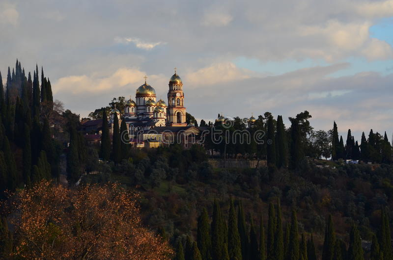 Νέο μοναστήρι Athos στοκ εικόνα με δικαίωμα ελεύθερης χρήσης