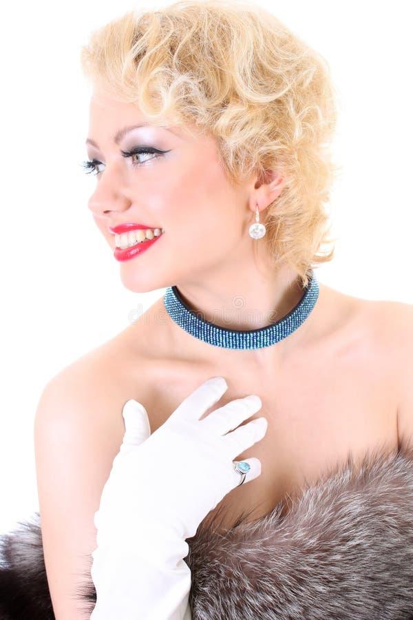 Νέο να ονειρευτεί γυναικών blondie στοκ φωτογραφία με δικαίωμα ελεύθερης χρήσης