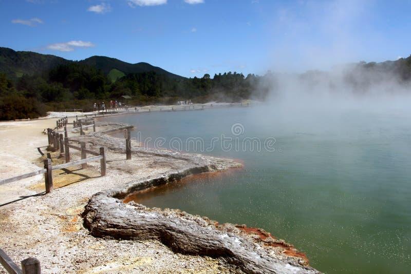 νέο ο wai Ζηλανδία tapu λιμνών σαμπ στοκ εικόνα