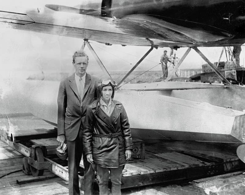 νέο πάρκο ΗΠΑ Υόρκη ανακαλύψεων dana κεντρικού κεντρικό Charles Lindbergh, αμερικανικός αεροπόρος στοκ φωτογραφίες