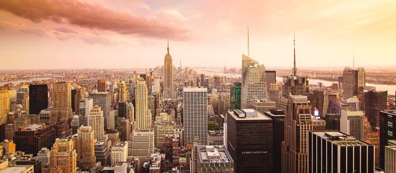 νέο πανόραμα Υόρκη πόλεων στοκ εικόνες με δικαίωμα ελεύθερης χρήσης