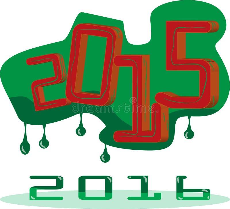 νέο παλαιό έτος στοκ εικόνα