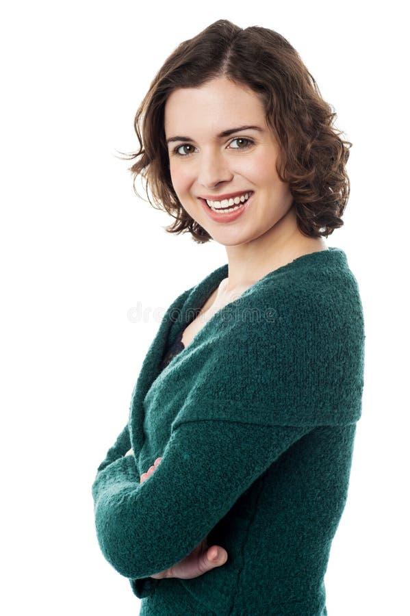 Νέο πορτρέτο γυναικών. Βλαστός στούντιο ομορφιάς στοκ φωτογραφία με δικαίωμα ελεύθερης χρήσης