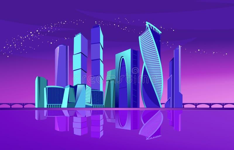 Νέο πόλεων της Μόσχας ελεύθερη απεικόνιση δικαιώματος