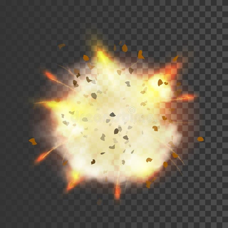 Νέο ρεαλιστικό σύμβολο έκρηξης διανυσματική απεικόνιση