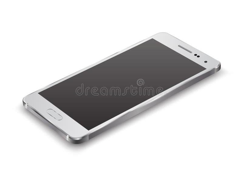 Νέο ρεαλιστικό πρότυπο προοπτικής Smartphone απεικόνιση αποθεμάτων
