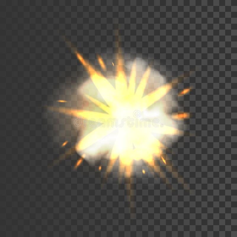 Νέο ρεαλιστικό σημάδι έκρηξης απεικόνιση αποθεμάτων