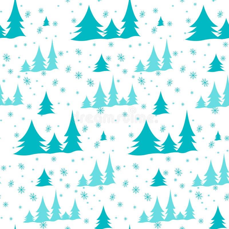 Νέο σχέδιο των χριστουγεννιάτικων δέντρων διανυσματική απεικόνιση