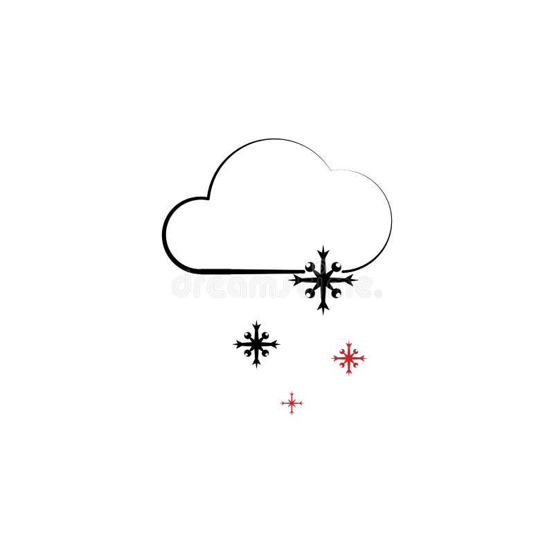 Νέο ταξίδι έτους, χιονώδης καιρός 2 εικονίδιο χρωματισμένων γραμμών Απλή συρμένη χέρι απεικόνιση στοιχείων χρώματος χιονώδες σύμβ απεικόνιση αποθεμάτων