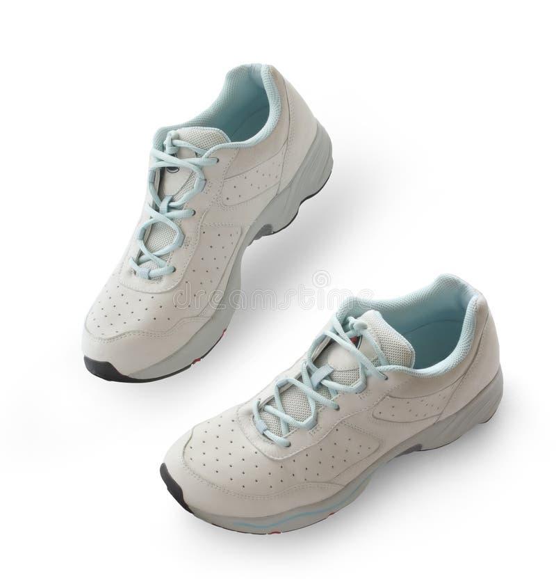 νέο τρέχοντας λευκό παπουτσιών ανασκόπησης στοκ φωτογραφία με δικαίωμα ελεύθερης χρήσης