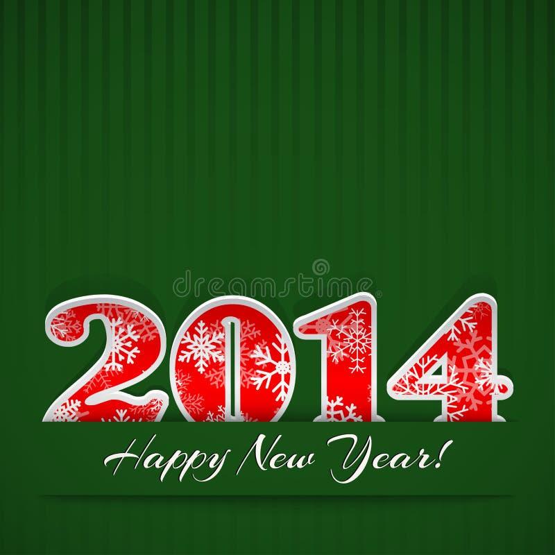Νέο υπόβαθρο έτους 2014 ελεύθερη απεικόνιση δικαιώματος