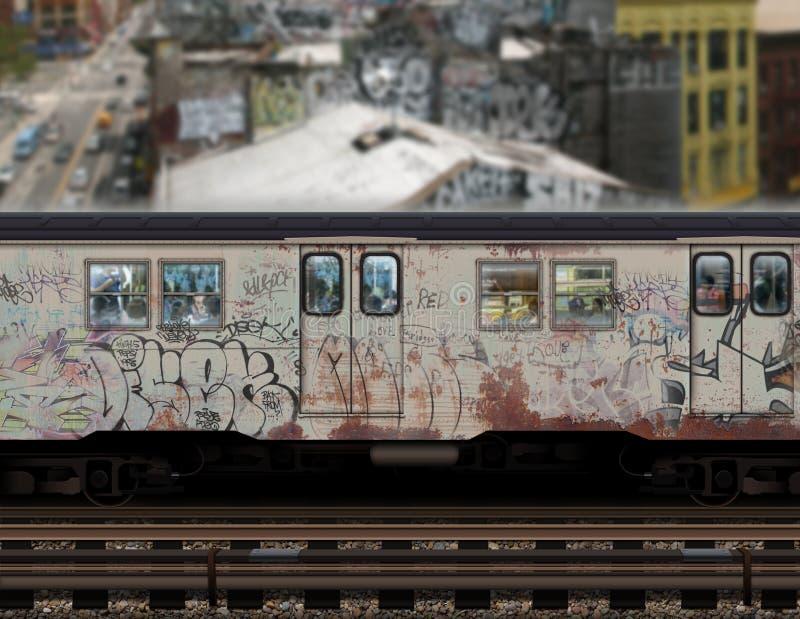 νέο υπόγειο τρένο Υόρκη στοκ εικόνες με δικαίωμα ελεύθερης χρήσης