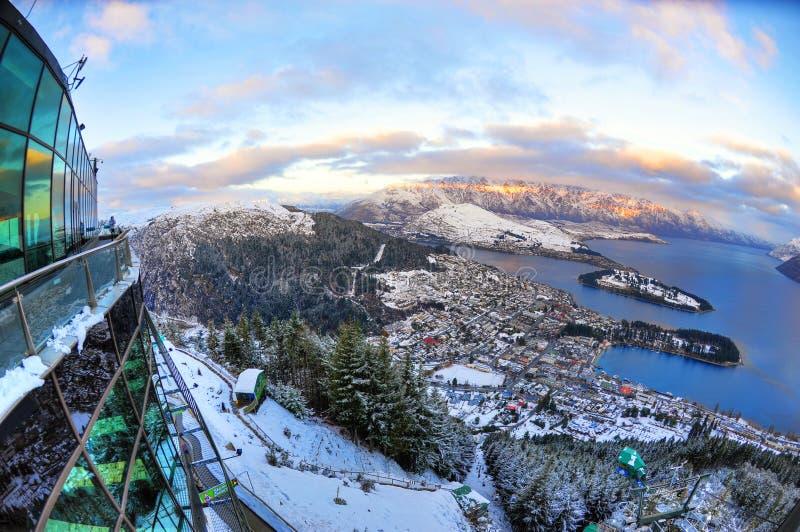 νέο χιόνι Ζηλανδία queenstown βουνών & στοκ εικόνα με δικαίωμα ελεύθερης χρήσης