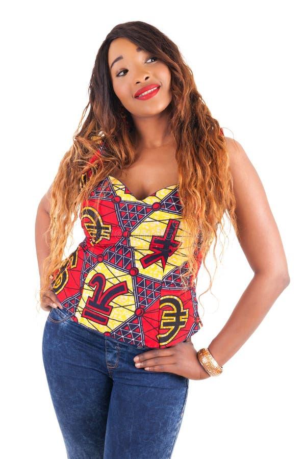 Νέο όμορφο αφρικανικό πρότυπο μόδας στοκ εικόνα με δικαίωμα ελεύθερης χρήσης