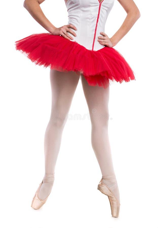 Νέο ballerina που θέτει και που χορεύει στοκ εικόνες