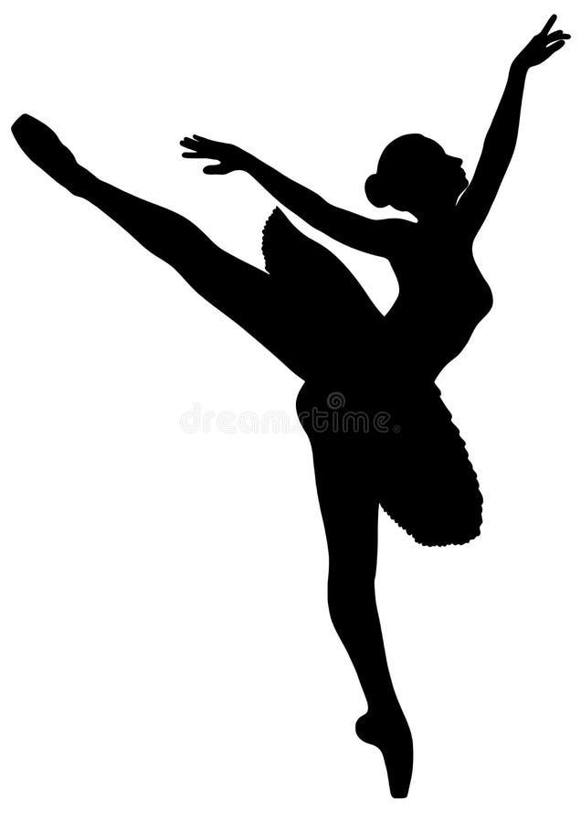 Νέο ballerina σε ένα tutu διανυσματική απεικόνιση