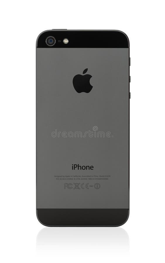 Νέο iPhone 5 της Apple πίσω πλευρά στοκ φωτογραφία
