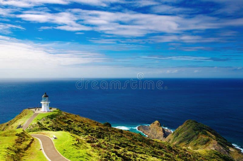 νέο reinga Ζηλανδία φάρων ακρωτη&rh στοκ εικόνα