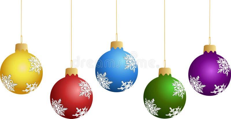 νέο s έτος διακοσμήσεων ελεύθερη απεικόνιση δικαιώματος