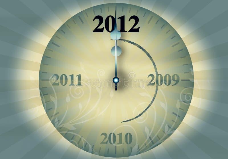 νέο s του 2012 έτος παραμονής διανυσματική απεικόνιση