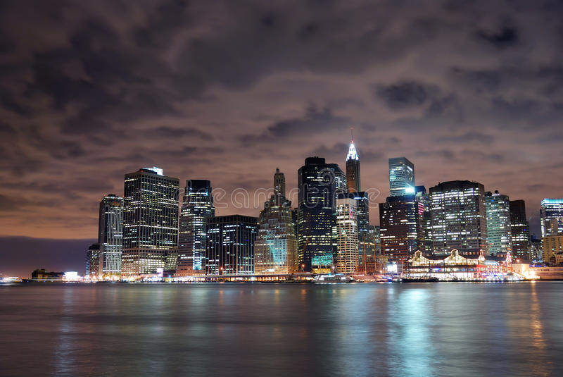 νέο skylin Υόρκη του Μανχάτταν πόλ στοκ φωτογραφία
