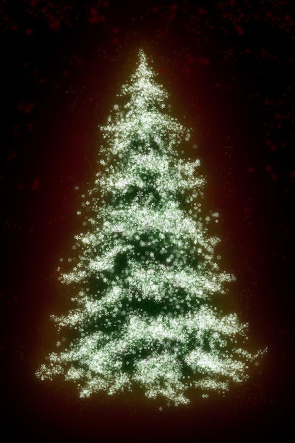 νέο snowflakes έτος δέντρων απεικόνιση αποθεμάτων