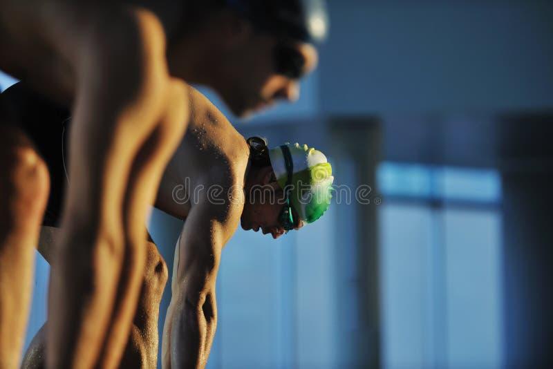 Νέο swimmmer στην έναρξη κολύμβησης στοκ φωτογραφία με δικαίωμα ελεύθερης χρήσης