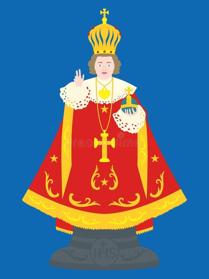 Νήπιο Ιησούς της Πράγας διανυσματική απεικόνιση