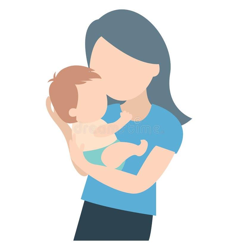 Νήπιο, μητέρα που μπορεί να εκδοθεί εύκολα σε οποιοδήποτε μέγεθος ή να τροποποιηθεί διανυσματική απεικόνιση