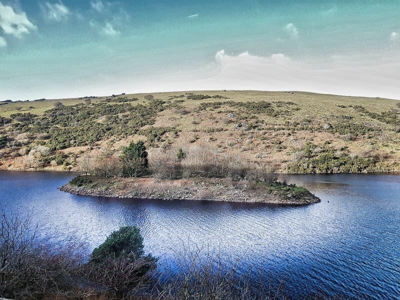 Νήσος Meldon Reservoir, Εθνικό Πάρκο Dartmoor, ντέβον στοκ φωτογραφία με δικαίωμα ελεύθερης χρήσης