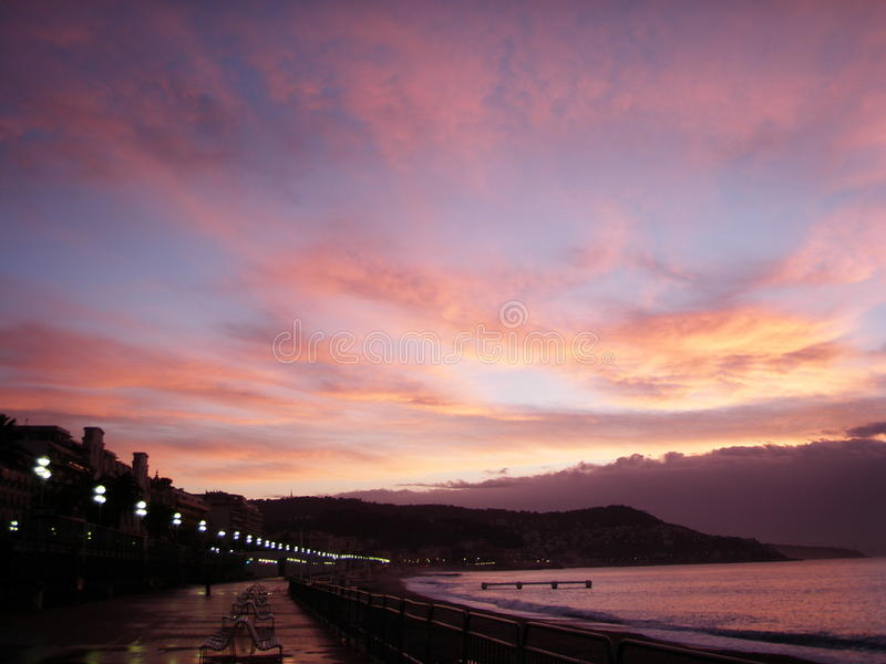Νίκαια, Γαλλία, CÃ'te d'Azur, γαλλική ακτή στοκ φωτογραφίες με δικαίωμα ελεύθερης χρήσης